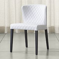 Curran Quilted Oyster Dining Chair $349 C&B