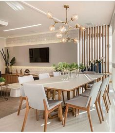 Dining room lighting decorations ideas stylish home fixtures 32 Living Room Tv Unit, Home Living Room, Interior Design Living Room, Living Room Decor, Dining Room Walls, Dining Room Lighting, Dining Room Sets, Home Room Design, House Design