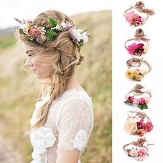 Women Girl Boho Flower Floral Hairband Price  11.90   FREE Shipping  We   accept  PayPal and  Credit Cards ae72bc9004fe