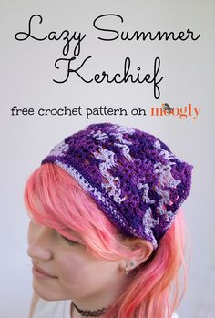Lazy Summer Kerchief - free #crochet pattern on Mooglyblog.com in 4 sizes! #diy #summer
