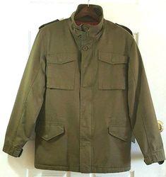 PUMA Men's Army Green Heavy Coat Jacket Small #PUMA #Military