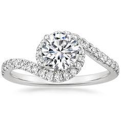 18K White Gold Venus Diamond Ring (1/3 ct. tw.) from Brilliant Earth
