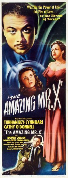 amazing mr. X movie poster | Film: The Amazing Mr. X (1948)