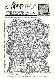 "Bobbin Lacemakers Association ""Ibn al Baytar"" pattern for lace - www.kloeppelshop.de"