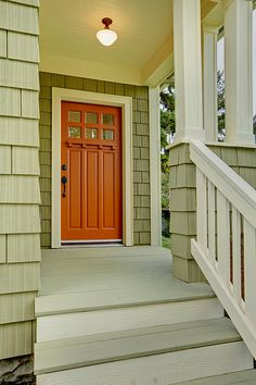 Front poorch and door of the green house. by Graystone-Inc, via Flickr