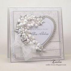 Srebrne Gody/25 rocznica ślubu/Wedding anniversary card Wedding Cards Handmade, Diy Cards, Cards Diy, Handmade Wedding Invitations, Stampin Up Cards, Handmade Cards