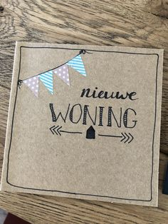 Handlettering kaartje nieuwe woning Love Cards, Diy Cards, Thank You Cards, Chrismas Cards, Make Your Own Card, Doodle Lettering, Wish Quotes, Sister Love, Creative Skills