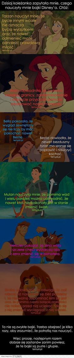 Stylowi.pl - Odkrywaj, kolekcjonuj, kupuj Dark Disney, Cute Disney, Disney Dream, Disney Magic, Wtf Funny, Funny Memes, Sad Quotes, Life Quotes, Cinema Quotes