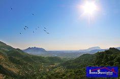 El monte Motgó de Dénia y la Sierra Segària desde Laguar