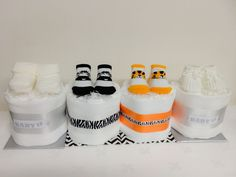 One Tier Small Mini Unisex/Neutral Boys/Girls Baby Nappy Cake Baby Shower gift