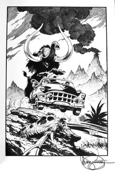Xenozoic art from Mark Schultz.