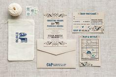 Christina & Pat - Paper & Poste Custom Invitation Suite