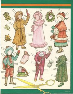 Christmas paper doll clothes