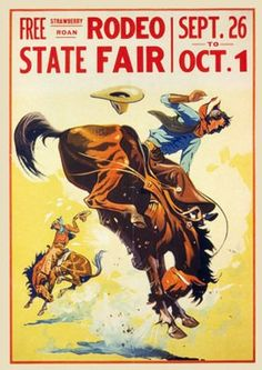 Vintage rodeo poster for sale