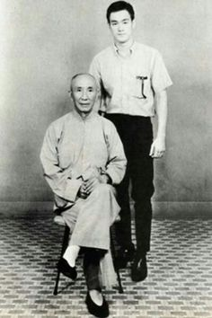 Bruce Lee with master Ip Man