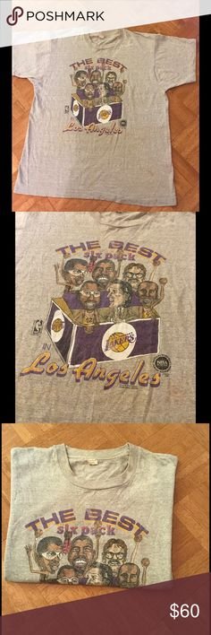 Rare Vintage 1980s L.A. Lakers Tee Shirt Large Hard to find Vintage L.A.  Lakers