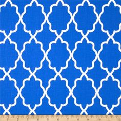 Multiple colors: Michael Miller Coco Cabana Moroccan Lattice Cobalt from @fabricdotcom  From Michael Miller, this cotton print is perfect for quilting, apparel and home decor accessories.  Colors include white and cobalt blue.