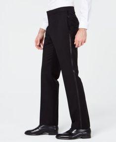 Ryan Seacrest Distinction Men's Slim-Fit Stretch Black Prom Suit Pants, Created for Macy's - Black Black Tuxedo Suit, Macys Mens, Suit Pants, Slim Man, Suits, Fitness, Fashion, Moda, Slacks Outfit