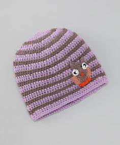 Take a look at this Lilac & Chocolate Stripe Beanie by Blade & Rose on #zulily today!