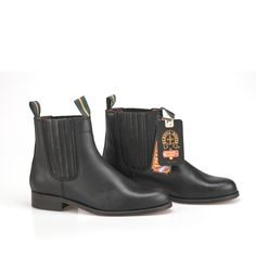 Buy Mens Chelsea Leather Boots Black handmade in Valverde del Camino, Spain at SPANISH SHOP ONLINE