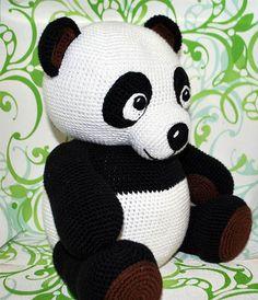 Crochet Patterns Amigurumi, Crochet Toys, Free Crochet, Knit Crochet, Halloween Toys, Halloween Crochet, Crochet Panda, Crochet Animals, Panda Pillow