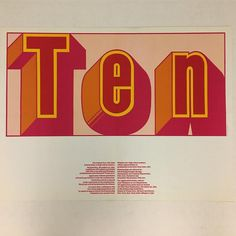 Poster by Cris Gianakos advertising, 1966 - with Milton Glaser's Baby Fat typeface.