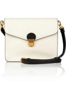 marc jacobs cricket two-tone cream & black leather