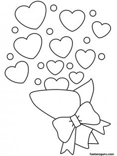 Printable Valentines Day Bouquet coloring pages for kids. print out Printable Valentines Day Bouquet coloring pages for preschoolers Printable Valentines Coloring Pages, Valentines Day Coloring Page, Free Printable Coloring Pages, Coloring Pages For Kids, Heart Coloring Pages, Flower Coloring Pages, Coloring Pages To Print, Coloring Books, Fairy Coloring