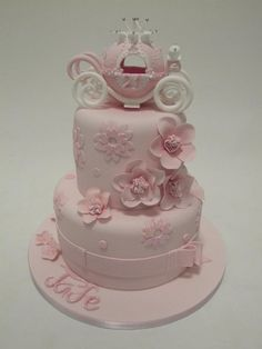 Pink princess carriage cake - Emma Jayne Cake Design