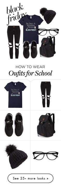 """Untitled #5"" by sugahplumz on Polyvore featuring River Island, Y-3, Miss Selfridge and EyeBuyDirect.com"