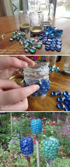 Glass Gem Garden Treasure Jars