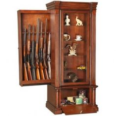 hidden gun rack in bookcase