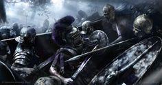 ArtStation - Claudius, Battle of Colchester, Mariusz Kozik