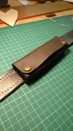 Hand made leather belt attachment key or change case from The Anvil Workshop