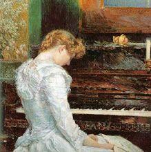 The Sonata (1893) Frederick Childe Hassam (1859-1943)