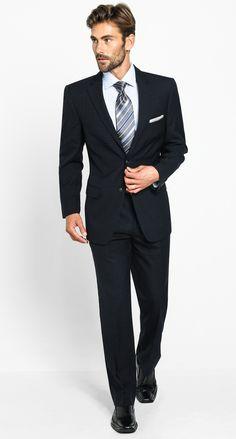 Nyssa Modern Mezza Plaid - Black Men's Suit