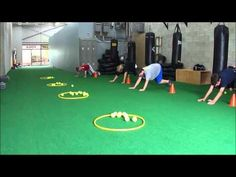 Fitness bear crawl - use buckets and bean bags in the hall Elementary Physical Education, Elementary Pe, Health And Physical Education, Physical Fitness, Physical Exercise, Pe Activities, Fitness Activities, Physical Activities, Fitness Games For Kids