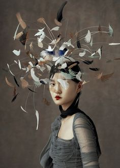 """cool """"The Peking Opera"""" by Wangy Xin Yu for Harper's Bazaar China Ma. """"The Peking Opera"""" by Wangy Xin Yu for Harper's Bazaar China May Hat by Harvy Santos """"Birdy"""" collection🕊 Have a nice. Harpers Bazaar, Fashion Art, Editorial Fashion, China Fashion, Fashion News, Fashion Outfits, Renaissance Kunst, Iris Van Herpen, Origami Fashion"""