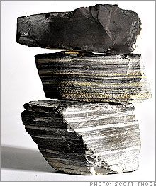 oil shale, similar to Haynesville shale