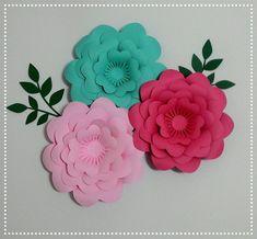 4 Flores 3d 16cm