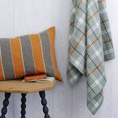 Here is a method how to unshrink a sweater or wool throw to the original size. As the possibility to restore depends on a variety of factors. Orange Boys Rooms, Church Interior Design, Orange Pillows, Orange Grey, Queen, Home And Deco, House Layouts, Muted Colors, Pullover
