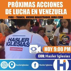 En el marco de una manifestación de 7.6 Millones de venezolanos de tres días de trancazo consecutivos de un acuerdo de gobernabilidad y del nombramiento de nuevos magistrados del TSJ hoy quiero hablar con ustedes de las próximas acciones de lucha. . Sigamos avanzando en la presión de calle institucional e internacional. Sólo así detendremos el fraude constituyente y sacaremos a Maduro. . #TrancaYParaContraElFraude