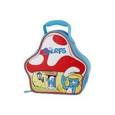 The Smurfs Insulated Zippered House Shaped Lunch Bag by Thermos