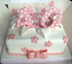 birthday cake love the cake not the bow 40th Birthday Cake For Women, 40th Birthday Decorations, 40th Cake, 40th Birthday Cakes, 40th Birthday Parties, Sugar Cake, Novelty Cakes, Occasion Cakes, Girl Cakes
