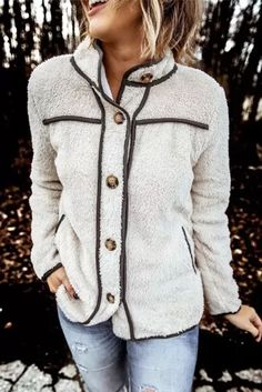 Turtleneck Long Sleeve Button Faux Fur Coat New Winter Clothes Fashion Plus Size Casual Slim Women Jacket - #coatsforwomen #coatsforwomenwinter #coatsforwomencasual #coatsforwomenclassy #coatsforwomenclassyelegant #coatsjackets #coatsjacketswomen #coatsforwomen2020 #coatsforwomen2020fashiontrends #streettide Fuzzy Coat, Warm Coat, Shorts Longs, Winter Stil, Fall Winter, Winter Coats, Autumn Summer, Coat Stands, Style Casual