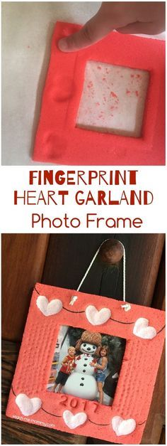Fingerprint Heart Garland Photo Frame, lovely #keepsake #diygifts