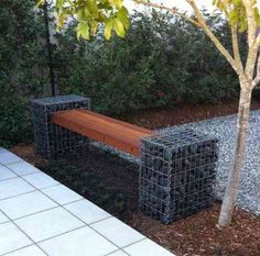 Gabion Bench Seat Defined Style (4)