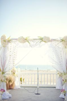 #beach, #canopy  Photography: Sarah Yates Photography - sarahyates.com Floral Design: Empty Vase - emptyvase.com  Read More: http://www.stylemepretty.com/2011/06/16/santa-monica-wedding-by-sarah-yates-photography/