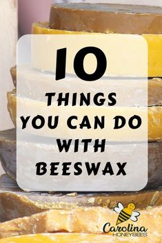 What can you do with beeswax? Lots of things. Beeswax has many uses - you can make candles, lotions, lip balms and more. You can also use beeswax in a natural waterproofer and furniture polish. Behold all the uses of beeswax in your home. #beeswax #beeswaxuses #beeswaxchapstick #beeswaxdiy #beeswax recipes