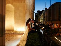 Bride and Groom - Romantic Night Picture - Balcony, City Wedding, Philadelphia, Ballroom at the Ben
